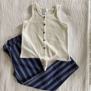 Girls pants and tank outfit